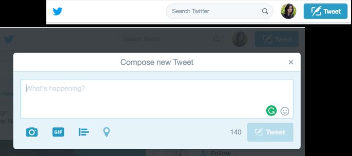 clicked on Tweet button