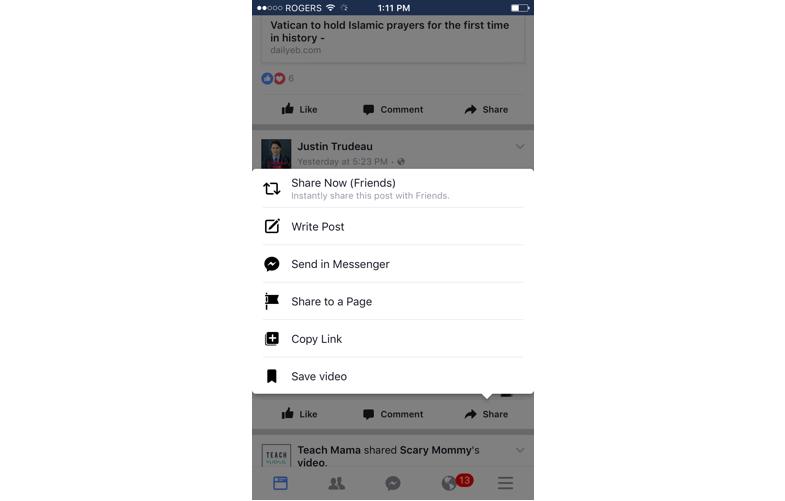 modal window done well—facebook