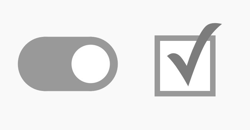 Switch VS Checkbox in User Interface Design
