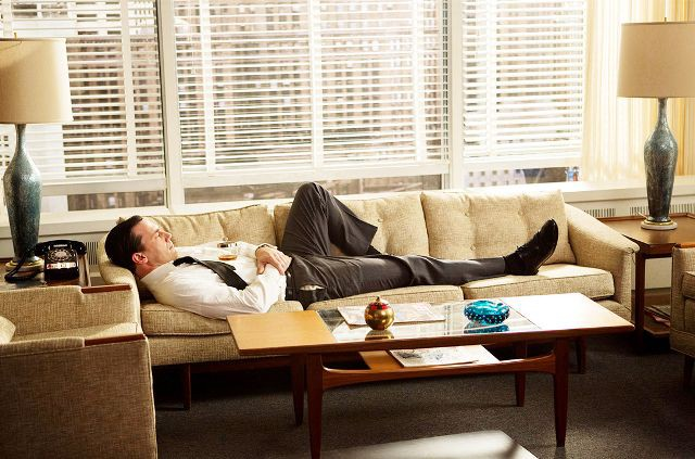 Only someone like Don Draper would dare take a nap during work hours.