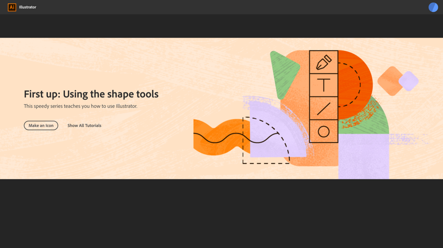 Adobe Illustrator CC 2019 on-boarding banner