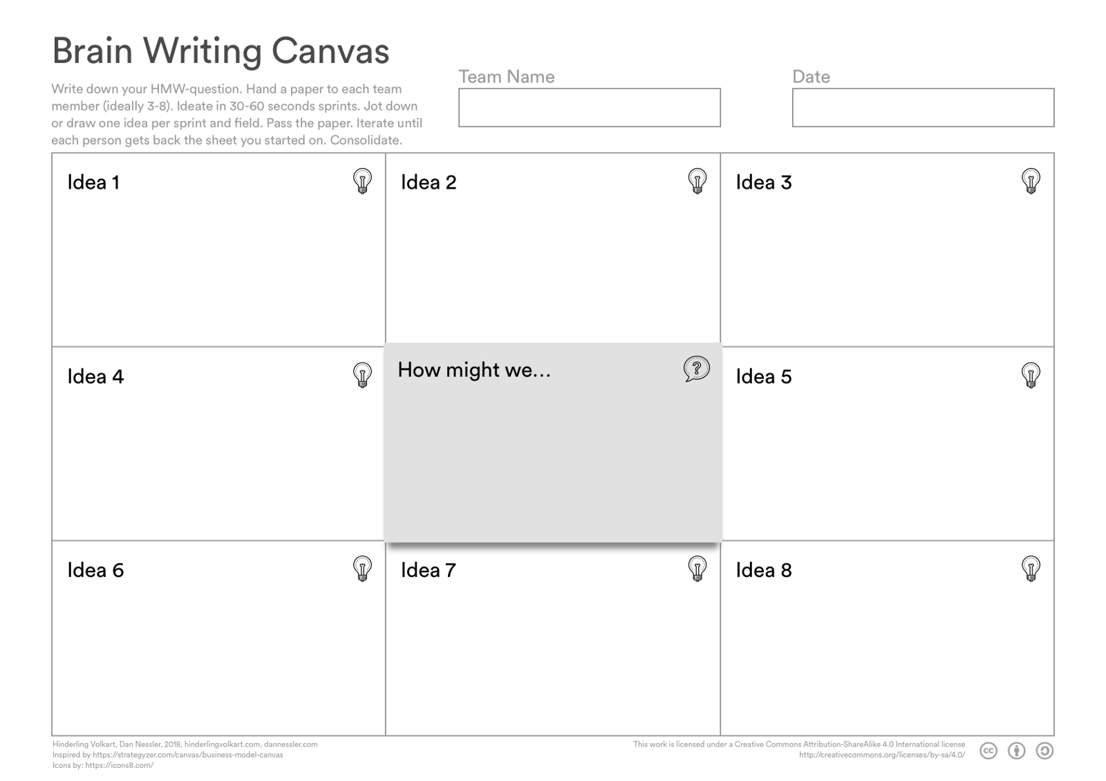 Brain Writing Canvas