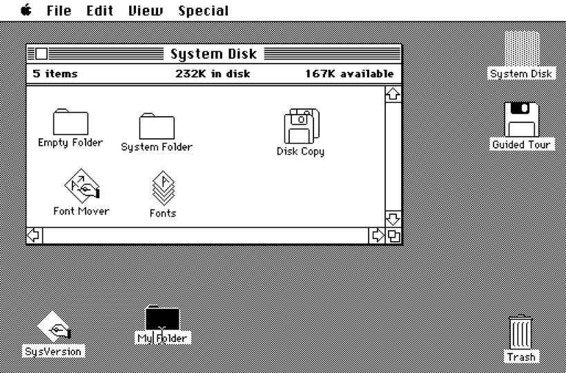 Apple's early skeuomorphic design was the California Roll of the personal computer